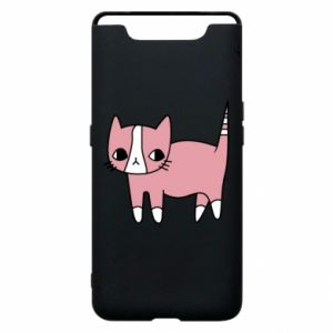 Phone case for Samsung A80 Cat with leaves