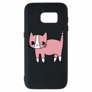Phone case for Samsung S7 Cat with leaves