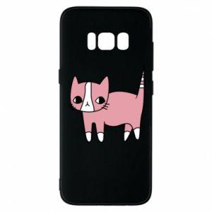 Phone case for Samsung S8 Cat with leaves
