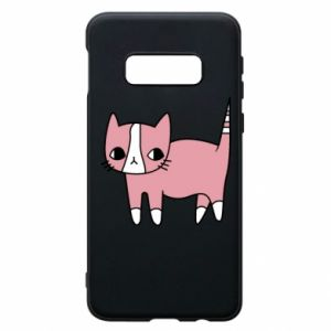 Phone case for Samsung S10e Cat with leaves