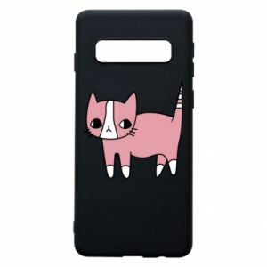 Phone case for Samsung S10 Cat with leaves