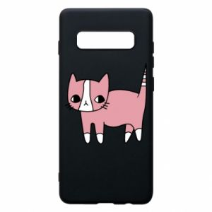 Phone case for Samsung S10+ Cat with leaves