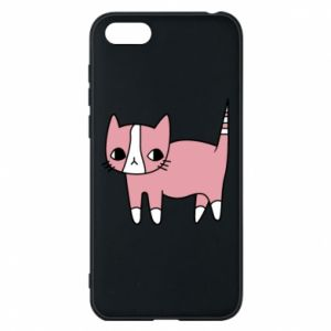 Phone case for Huawei Y5 2018 Cat with leaves
