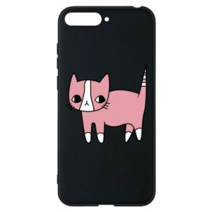 Phone case for Huawei Y6 2018 Cat with leaves
