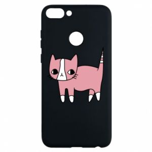 Phone case for Huawei P Smart Cat with leaves