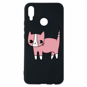 Phone case for Huawei P Smart Plus Cat with leaves