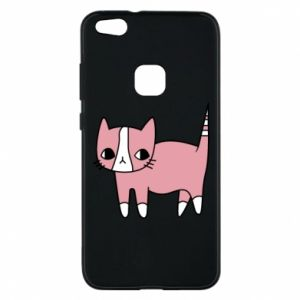 Phone case for Huawei P10 Lite Cat with leaves