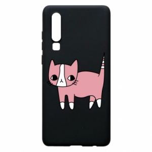 Phone case for Huawei P30 Cat with leaves