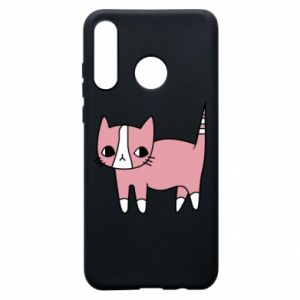Phone case for Huawei P30 Lite Cat with leaves