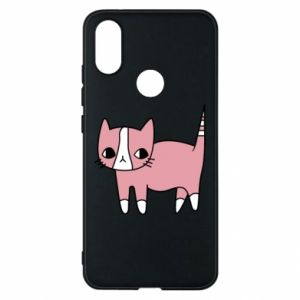 Phone case for Xiaomi Mi A2 Cat with leaves