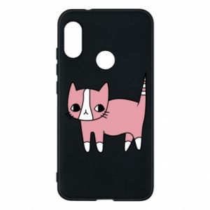 Phone case for Mi A2 Lite Cat with leaves