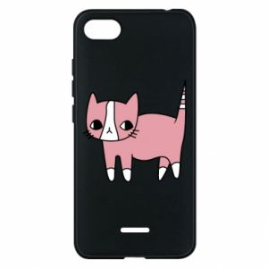 Phone case for Xiaomi Redmi 6A Cat with leaves