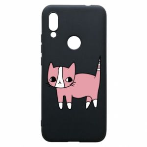 Phone case for Xiaomi Redmi 7 Cat with leaves