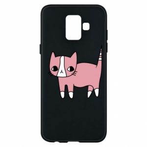 Phone case for Samsung A6 2018 Cat with leaves