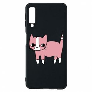 Phone case for Samsung A7 2018 Cat with leaves