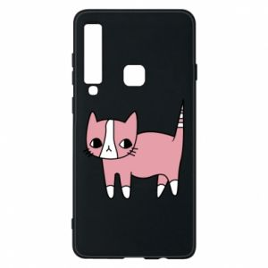 Phone case for Samsung A9 2018 Cat with leaves