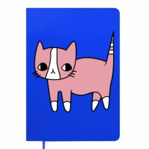Notepad Cat with leaves