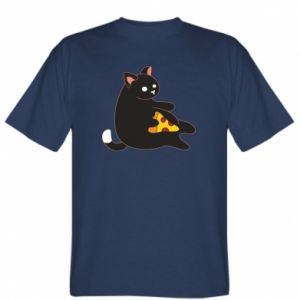 T-shirt Cat with pizza