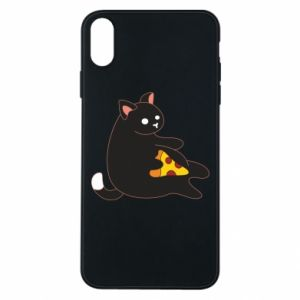 Phone case for iPhone Xs Max Cat with pizza