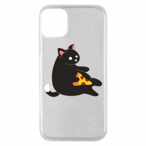 Phone case for iPhone 11 Pro Cat with pizza
