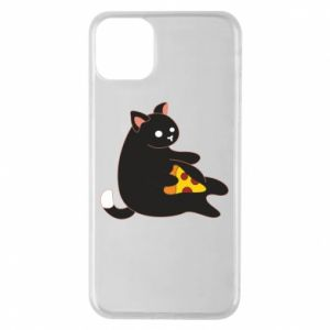 Phone case for iPhone 11 Pro Max Cat with pizza