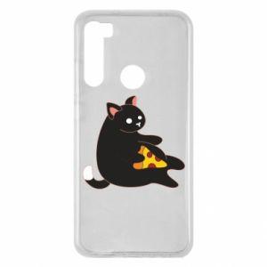Etui na Xiaomi Redmi Note 8 Cat with pizza