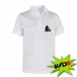 Children's Polo shirts Cat with pizza