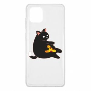 Etui na Samsung Note 10 Lite Cat with pizza
