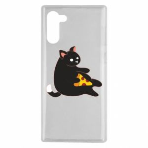 Etui na Samsung Note 10 Cat with pizza