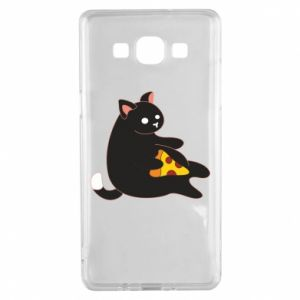 Etui na Samsung A5 2015 Cat with pizza