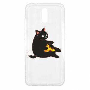 Etui na Nokia 2.3 Cat with pizza