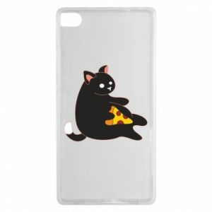 Etui na Huawei P8 Cat with pizza