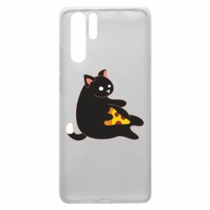 Etui na Huawei P30 Pro Cat with pizza