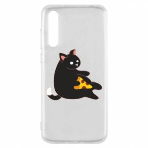 Etui na Huawei P20 Pro Cat with pizza