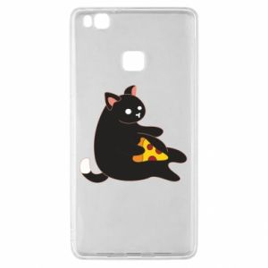 Etui na Huawei P9 Lite Cat with pizza