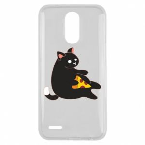 Etui na Lg K10 2017 Cat with pizza