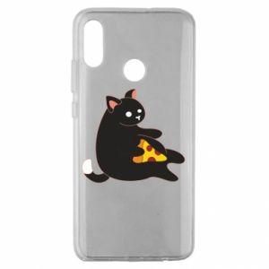 Etui na Huawei Honor 10 Lite Cat with pizza