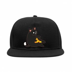 SnapBack Cat with pizza