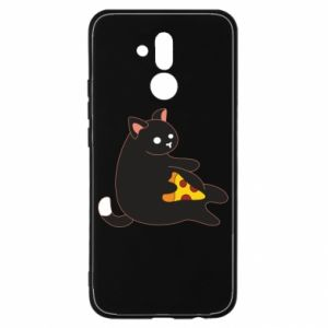Etui na Huawei Mate 20 Lite Cat with pizza