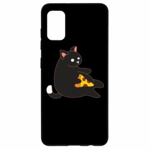 Etui na Samsung A41 Cat with pizza