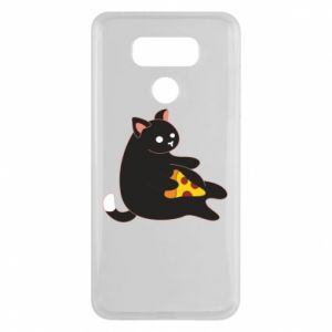 Etui na LG G6 Cat with pizza