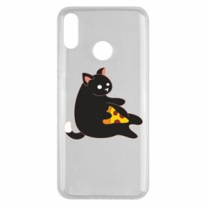 Etui na Huawei Y9 2019 Cat with pizza