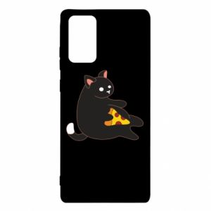 Etui na Samsung Note 20 Cat with pizza