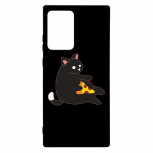 Etui na Samsung Note 20 Ultra Cat with pizza