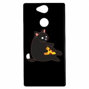 Etui na Sony Xperia XA2 Cat with pizza