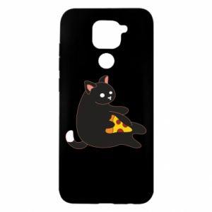 Etui na Xiaomi Redmi Note 9/Redmi 10X Cat with pizza