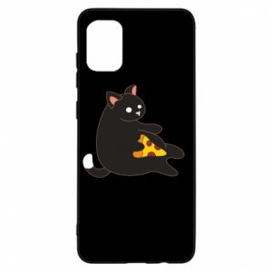 Etui na Samsung A31 Cat with pizza