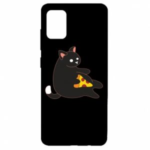 Etui na Samsung A51 Cat with pizza