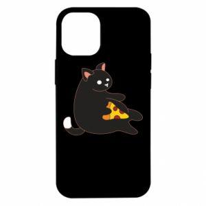 Etui na iPhone 12 Mini Cat with pizza