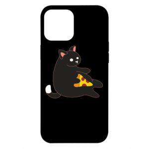 Etui na iPhone 12 Pro Max Cat with pizza